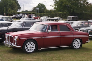 Rover P5 3.5 Litre with interesting wheels