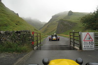On a clear day there is a lovely view down the Winnats Pass