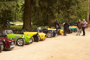 Cars lined up at Sandringham